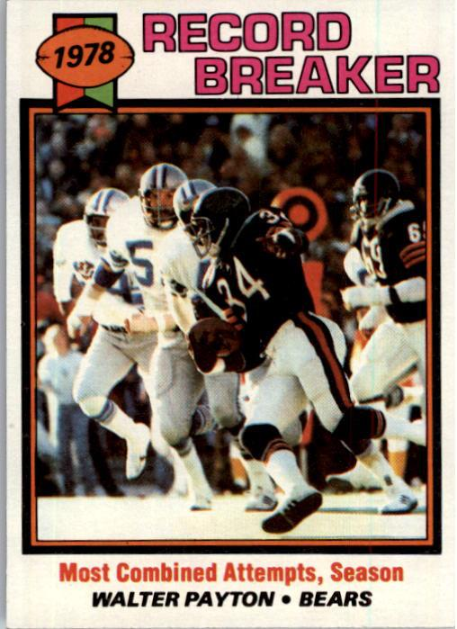 1979 Topps #335 Walter Payton RB/Most Combined/Attempts& Season