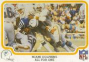 1979 Fleer Team Action #28 Miami Dolphins