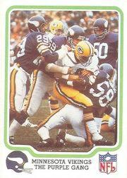 1979 Fleer Team Action #30 Minnesota Vikings