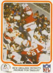 1979 Fleer Team Action #31 New England Patriots