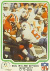 1979 Fleer Team Action #32 New England Patriots