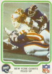 1979 Fleer Team Action #36 New York Giants