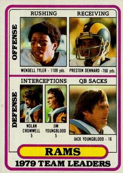 1980 Topps #394 Los Angeles Rams TL