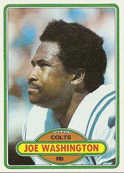 1980 Topps #505 Joe Washington