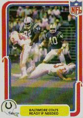 1980 Fleer Team Action #4 Baltimore Colts
