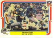 1980 Fleer Team Action #17 Detroit Lions