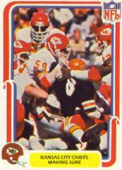 1980 Fleer Team Action #24 Kansas City Chiefs
