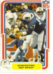 1980 Fleer Team Action #28 Miami Dolphins