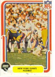 1980 Fleer Team Action #35 New York Giants