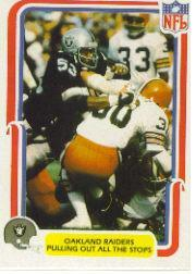 1980 Fleer Team Action #40 Oakland Raiders
