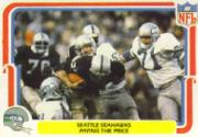 1980 Fleer Team Action #52 Seattle Seahawks