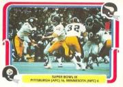 1980 Fleer Team Action #65 Super Bowl IX front image