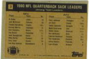 1981 Topps #3 Sack Leaders back image
