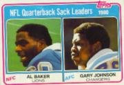 1981 Topps #3 Sack Leaders/Al(Bubba) Baker/Gary Johnson