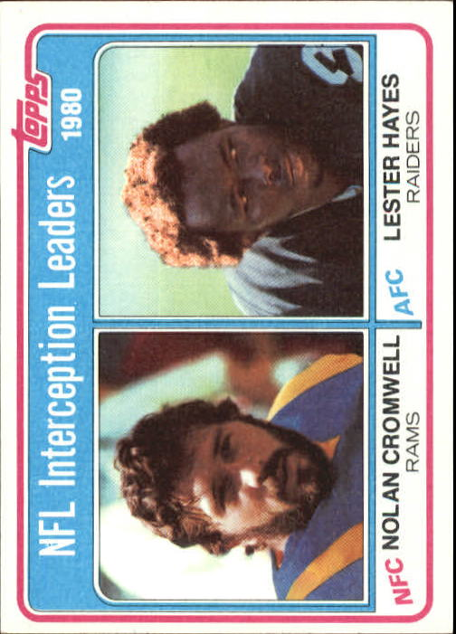 1981 Topps #5 Interception Leaders/Nolan Cromwell/Lester Hayes