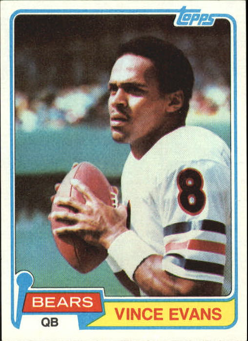 1981 Topps #11 Vince Evans RC