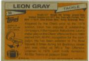 1981 Topps #30 Leon Gray AP back image
