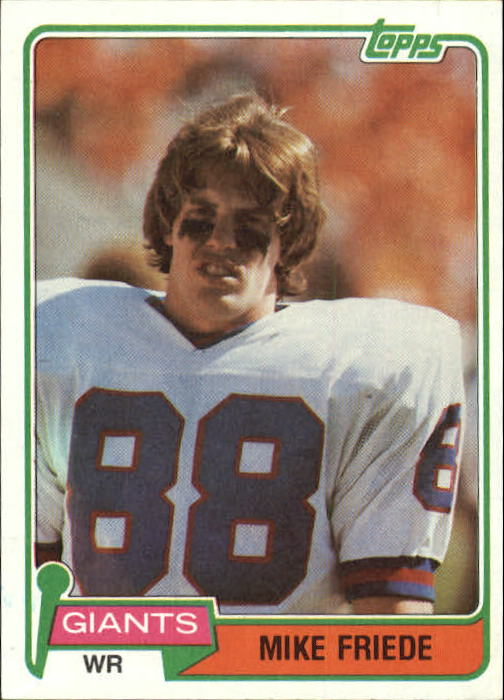1981 Topps #74 Mike Friede front image