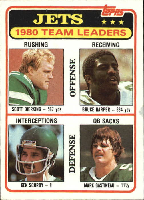 1981 Topps #132 New York Jets TL