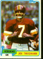 1981 Topps #165 Joe Theismann