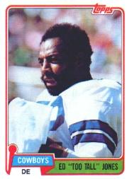 1981 Topps #185 Ed Too Tall Jones
