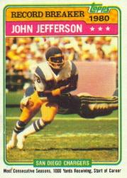 1981 Topps #332 John Jefferson RB
