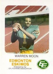 1981 Edmonton Eskimos Red Rooster #27 Warren Moon