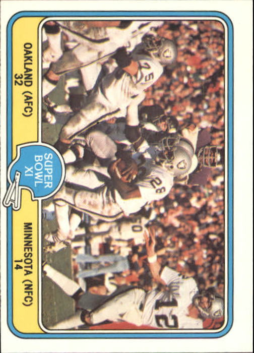 1981 Fleer Team Action #67 Super Bowl XI