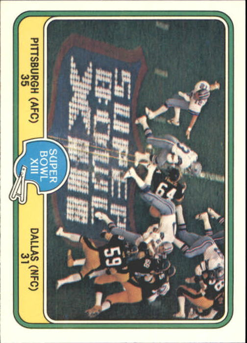 1981 Fleer Team Action #69 Super Bowl XIII