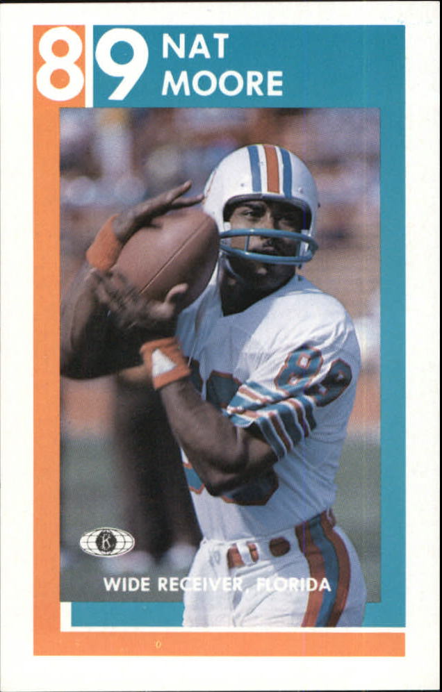 1982 Dolphins Police #6 Nat Moore