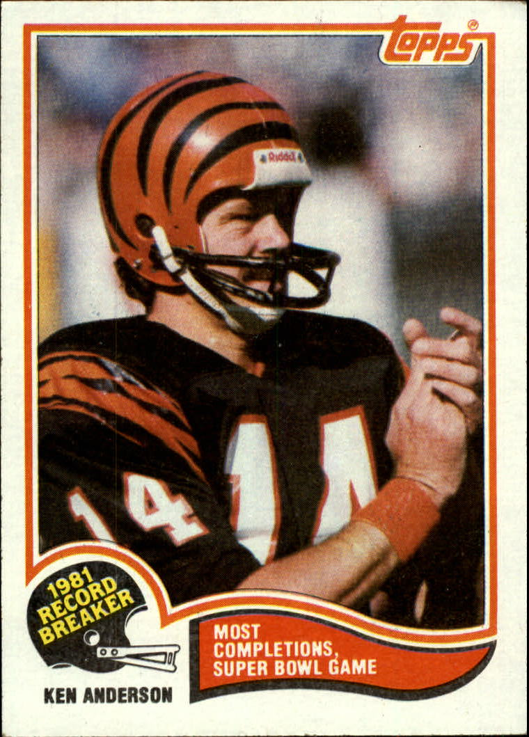 1982 Topps #1 Ken Anderson RB/Most Completions/Super Bowl Game