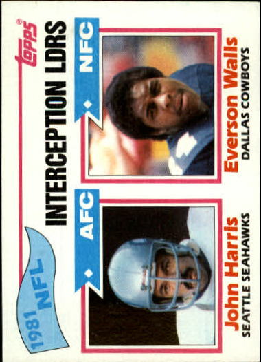 1982 Topps #261 Interception Leaders
