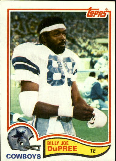 1982 Topps #314 Billy Joe DuPree