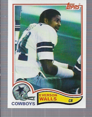 1982 Topps #327 Everson Walls RC