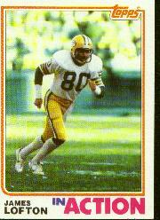 1982 Topps #365 James Lofton IA