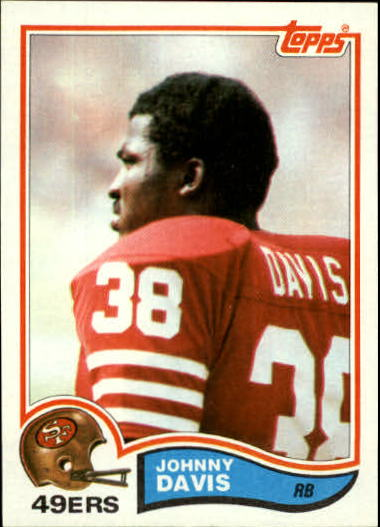 1982 Topps #482 Johnny Davis RC