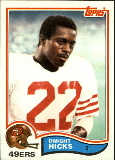 1982 Topps #485 Dwight Hicks RC