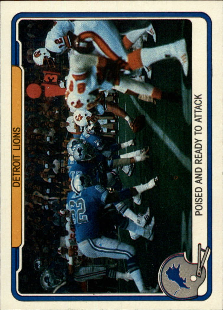 1982 Fleer Team Action #18 Detroit Lions