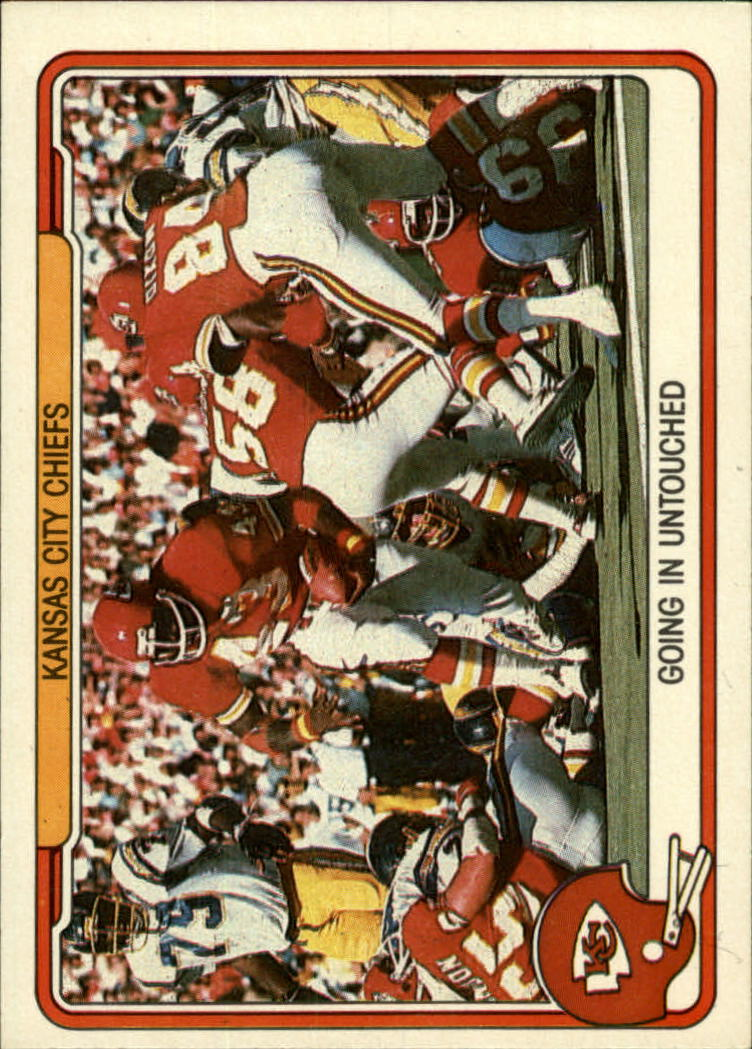 1982 Fleer Team Action #23 Kansas City Chiefs