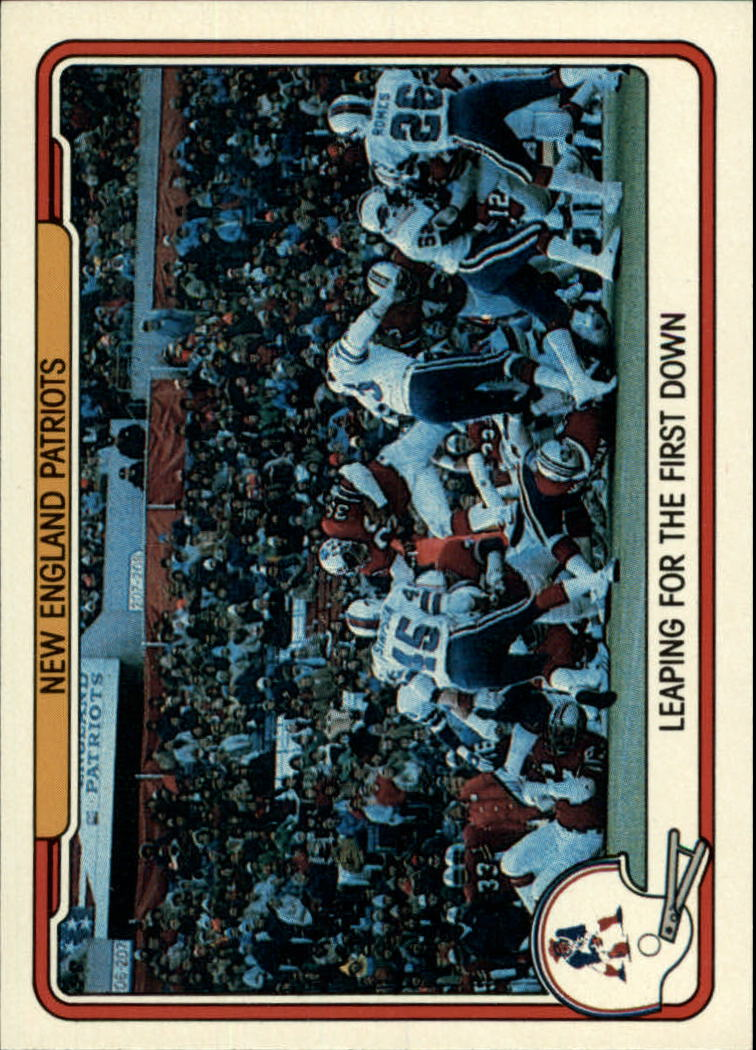 1982 Fleer Team Action #31 New England Patriots