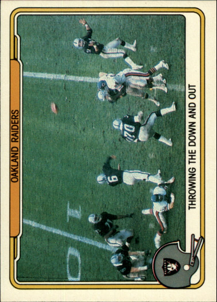 1982 Fleer Team Action #39 Oakland Raiders