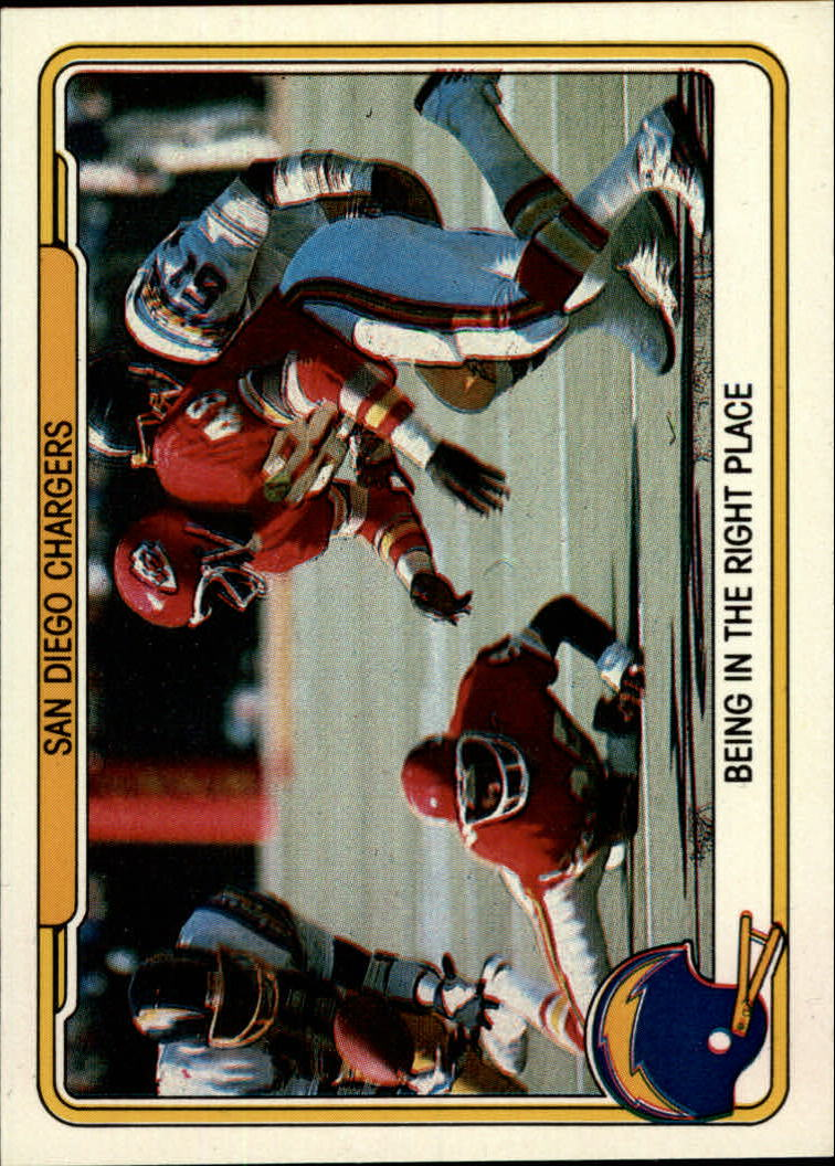 1982 Fleer Team Action #48 San Diego Chargers
