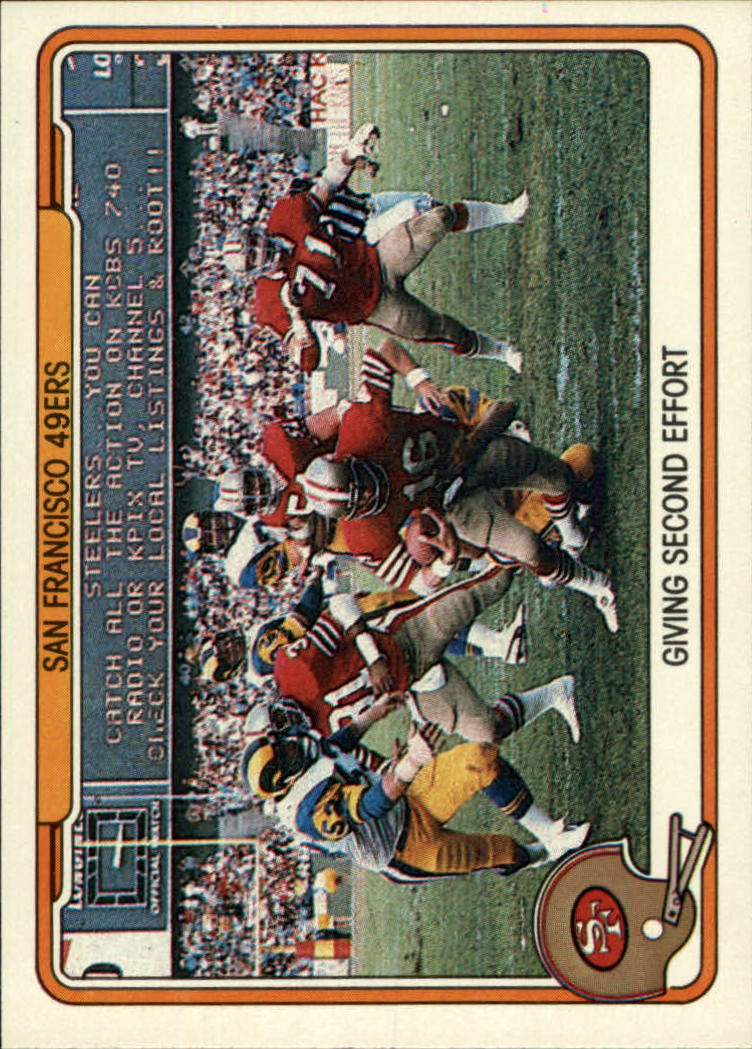 1982 Fleer Team Action #49 San Francisco 49ers front image