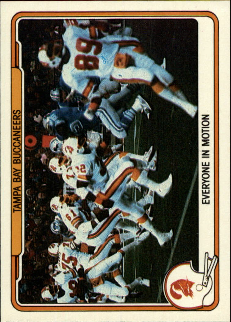 1982 Fleer Team Action #53 Tampa Bay Buccaneers