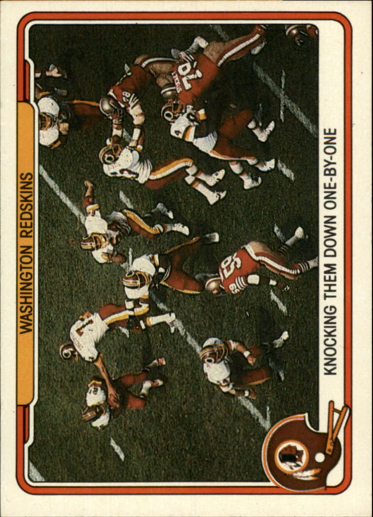 1982 Fleer Team Action #55 Washington Redskins