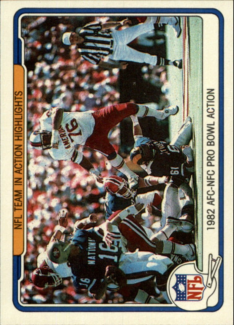 1982 Fleer Team Action #73 NFL Team Highlights