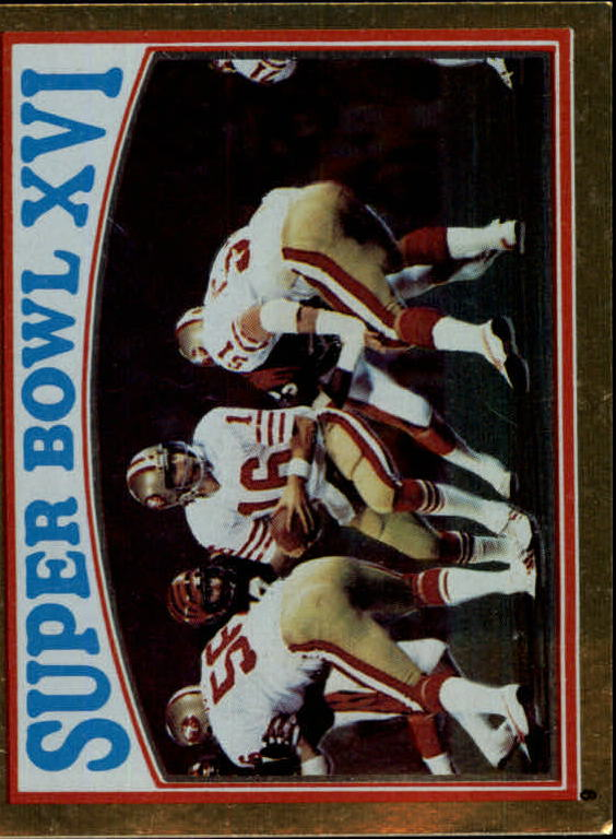 1982 Topps Coming Soon Stickers #9 Super Bowl XVI