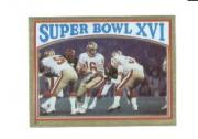 1982 Topps Stickers #9 Super Bowl XVI/(Joe Montana/handing off) * FOIL