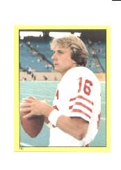 1982 Topps Stickers #113 Joe Montana