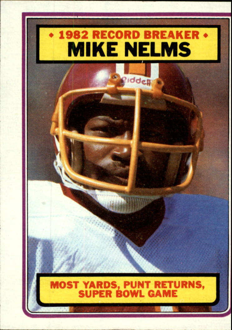 1983 Topps #6 Mike Nelms RB